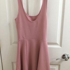 H&M LIGHT PINK MINI FLOWY DRESS
